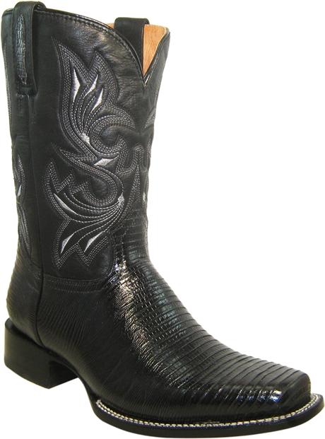 Texas H4000 F-003  CHINELA: Lizard Negro CALZADOR: Lizard Negro TUBO: Italo Negro FORRO:Cerdo SUELA:Cuero TACÓN:Recto ACABADO: Negro